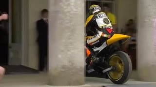 Valentino Rossi celebrated at Goodwood - but forgets to leave bike outside