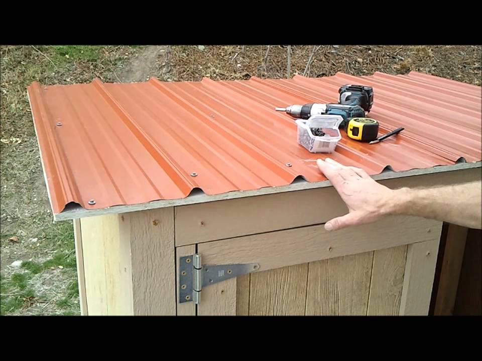 11Installing Shed Metal Roofing  How to Build a