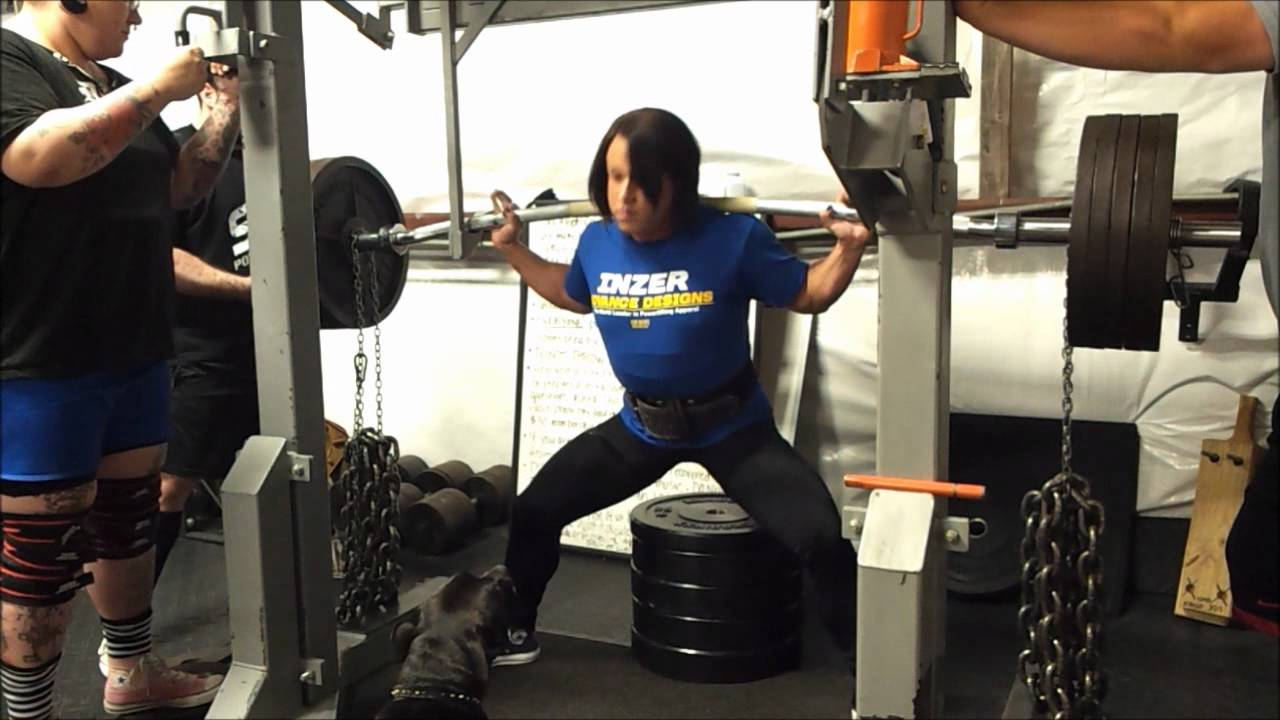 Laura PhelpsSweatt  505lb  120lb Chain Buffalo Bar Box