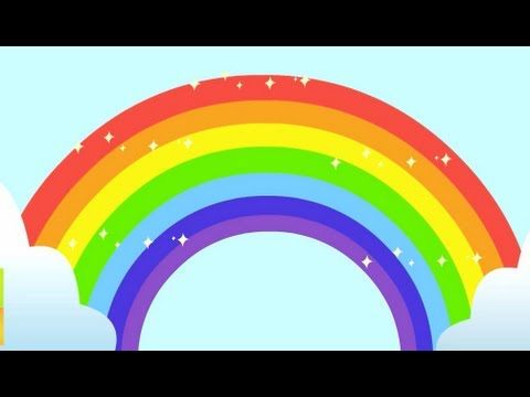 Cute Toddlers Playing Cartoon Wallpaper Rainbow Song Animated Learning Song For Children Youtube