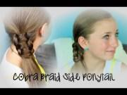 cobra braid side ponytail cute
