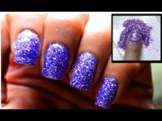 powder glitter nails cute nail