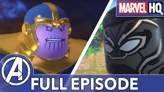 Black Panther vs. Thanos! | LEGO Marvel - Black Panther: Trouble in Wakanda (ALL EPISODES)