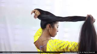 ILHW Real Rapunzel Sonali's Floor Length Hair Brushing & Elegant Extra Huge 8 Figure Stick Bun