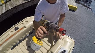 Adding a Scupper to my Plastic Boat