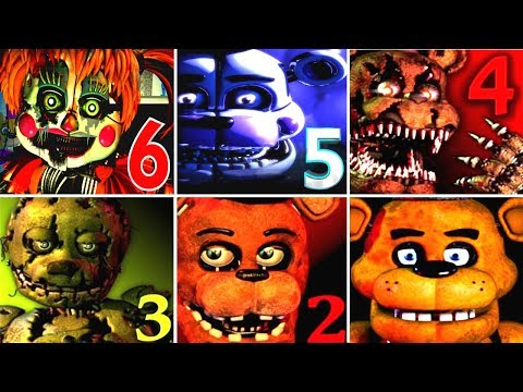 Cute Girl Anime Wallpaper Apk Five Nights At Freddy S 6 Fnaf 1 2 3 4 5 All Jumpscares