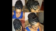 natural hair flat-twist updo protective