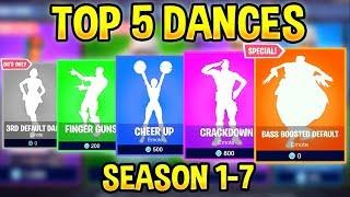 TOP 5 Best Fortnite Dances/Emotes Of Every Season..! (Nostalgia)