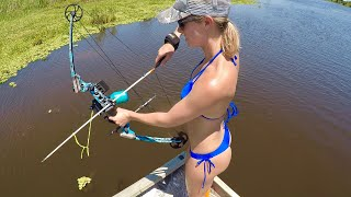 BIKINIS, Bass & Bowfishing - what could be any better?!!