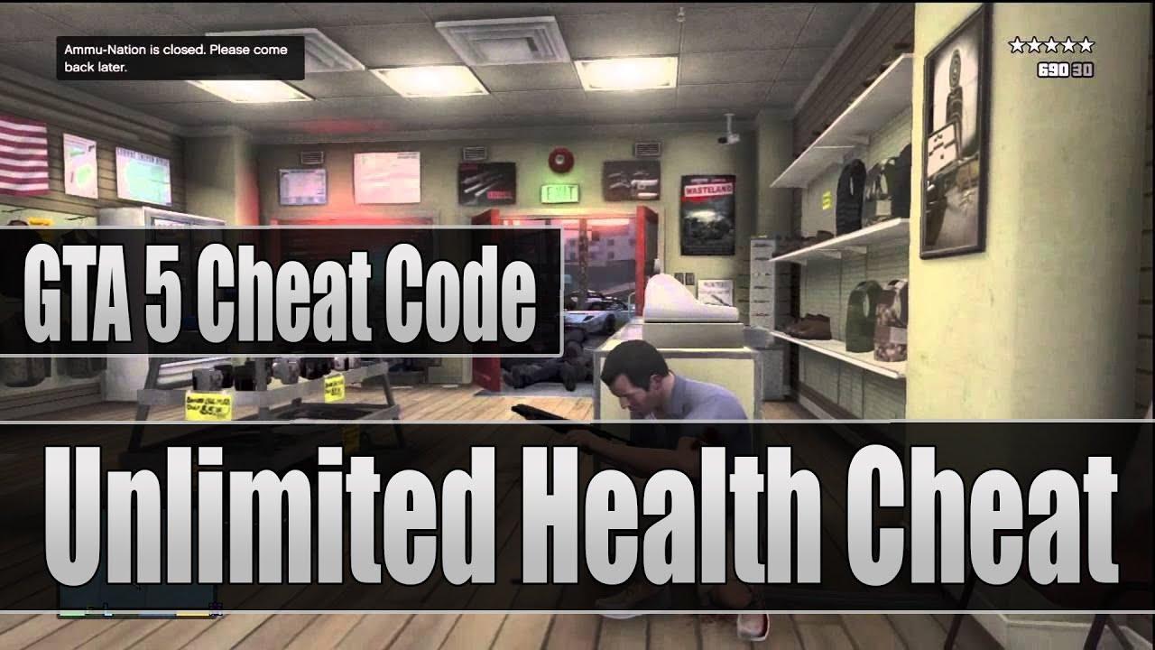 GTA 5 Cheat Code InvincibleUnlimited Health Cheat Code