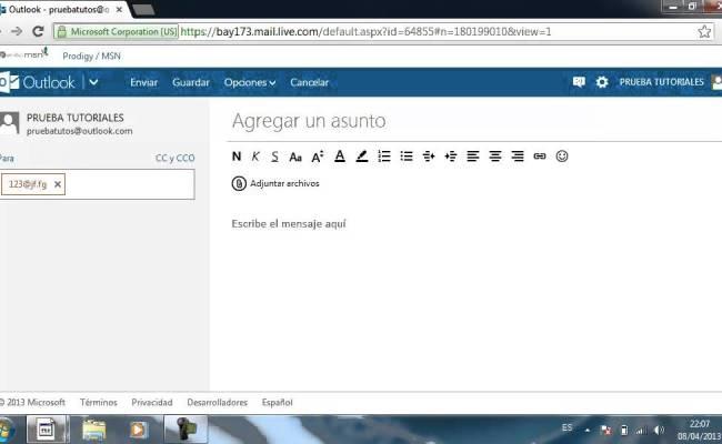Enviar Correo Electrónico Con Outlook Antes Hotmail