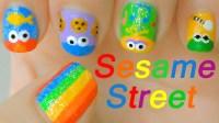 Sesame Street Nail Art Designs