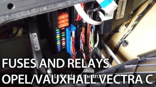 small resolution of where are fuses and relays in opel vauxhall vectra c youtube wiring diagram for opel corsa