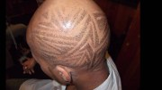 haircut design tribal art