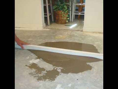 Floor Leveling For Hardwood Floors Concrete Youtube