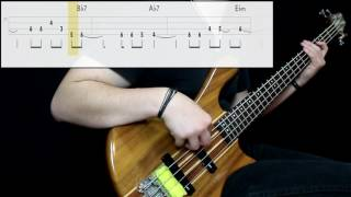 Marvin Gaye - I Heard It Through The Grapevine (Bass Cover) (Play Along Tabs In )