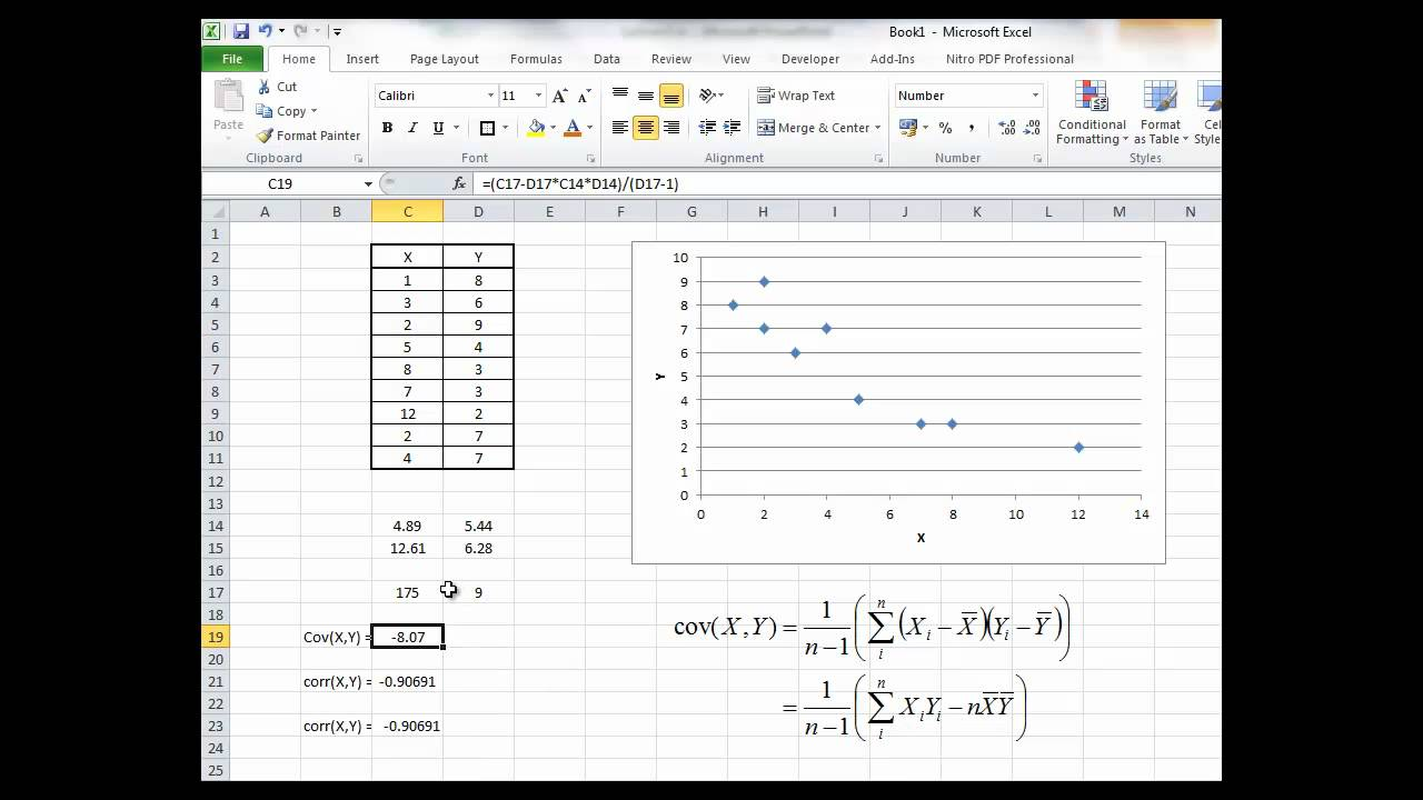 BFIP13: Calculating Sample Covariance and Correlation with