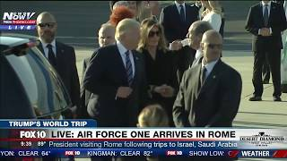 Download WATCH: President Trump and First Lady Melania Arrive in Rome for Meeting with Pope (FNN) Video
