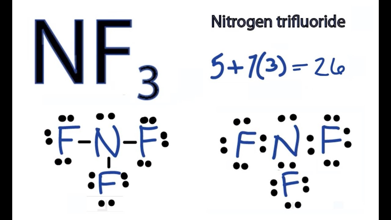 lewis dot diagram for n2 yamaha outboard wiring harness nf3 structure - how to draw the (nitrogen trifluoride) youtube