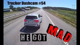 Trucker Dashcam #54 He got MAD!!