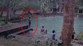 OMG The ghost just Passed Near those children | Real Ghost Sighting From Pond | Scary