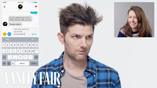 Watch Adam Scott Hijacks a Stranger's Tinder | Vanity Fair Video