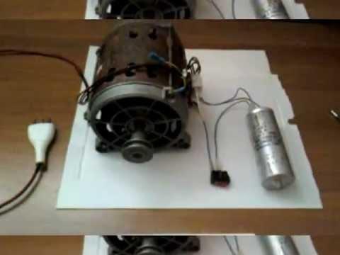 Cablaggio e funzionamento di un motore ad induzione da