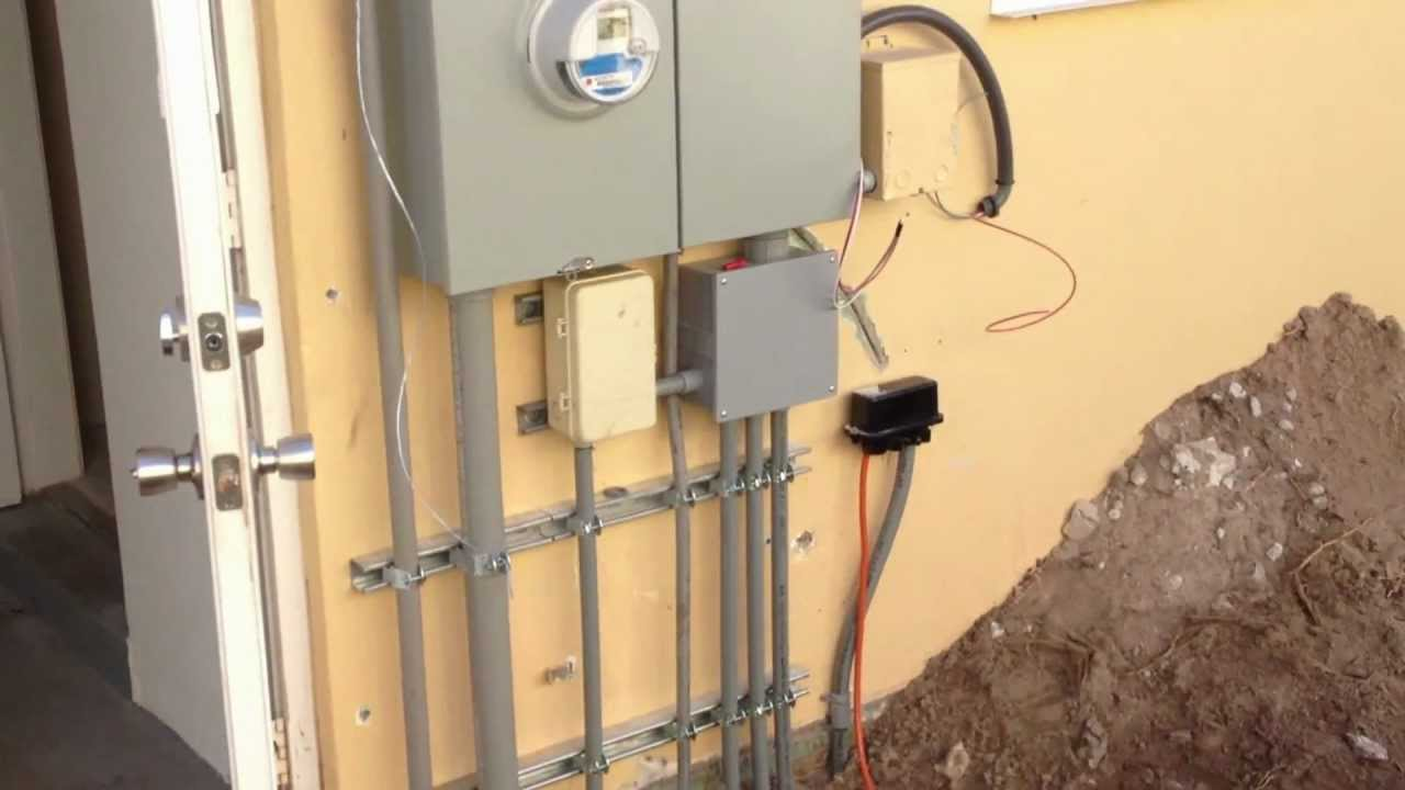 3 Phase Electric Panel Wiring Diagram 400 Amp Meter Main Underground Mov Youtube