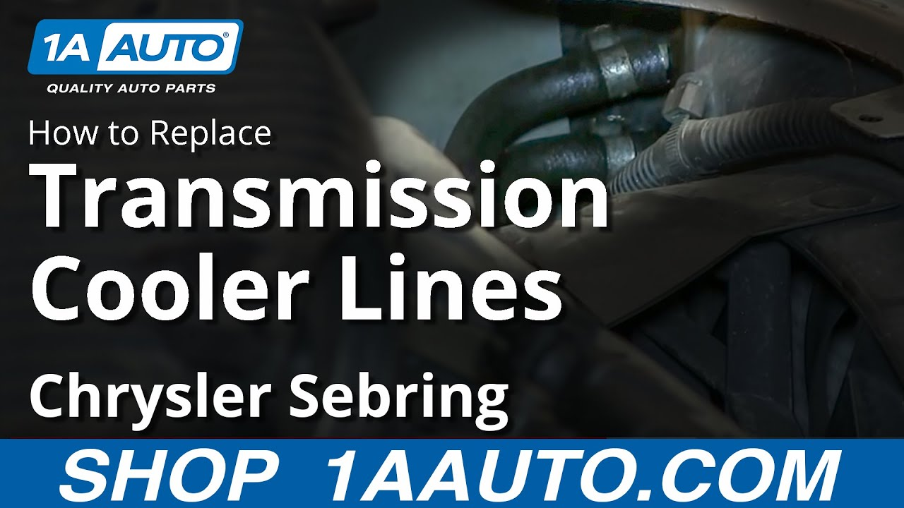 2002 ford taurus cooling system diagram 2000 nissan sentra engine how to install replace transmission cooler lines 2001-06 chrysler sebring - youtube