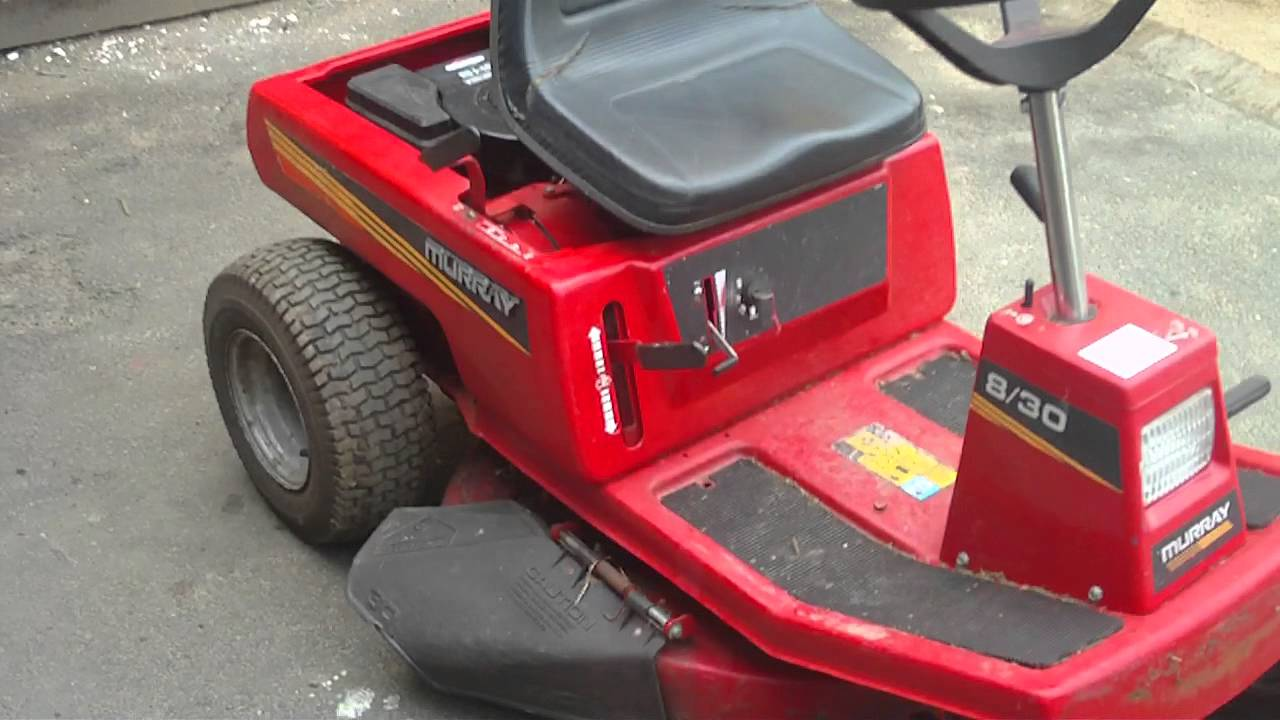 Sears Lawn Tractor Wiring Diagram Murray 8 30 Briggs Stratton 8hp Ride On Sit On Lawnmower