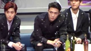161202 MAMA - Lay Baekhyun downstage reaction 張藝興 Zhang Yixing EXO
