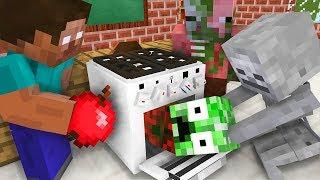 Monster School : Cooking Challenge - Minecraft Animation