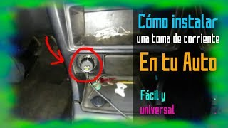 Cómo instalar toma de corriente (mechero / enchufe de auto) BARATO Y FÁCIL