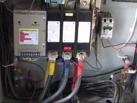 manual transfer switch wiring diagram volvo penta 2003 alternator transferencia automática. prueba de funcionamiento. - youtube