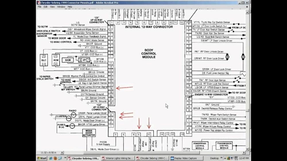 medium resolution of 99 chrysler 300m fuse diagram