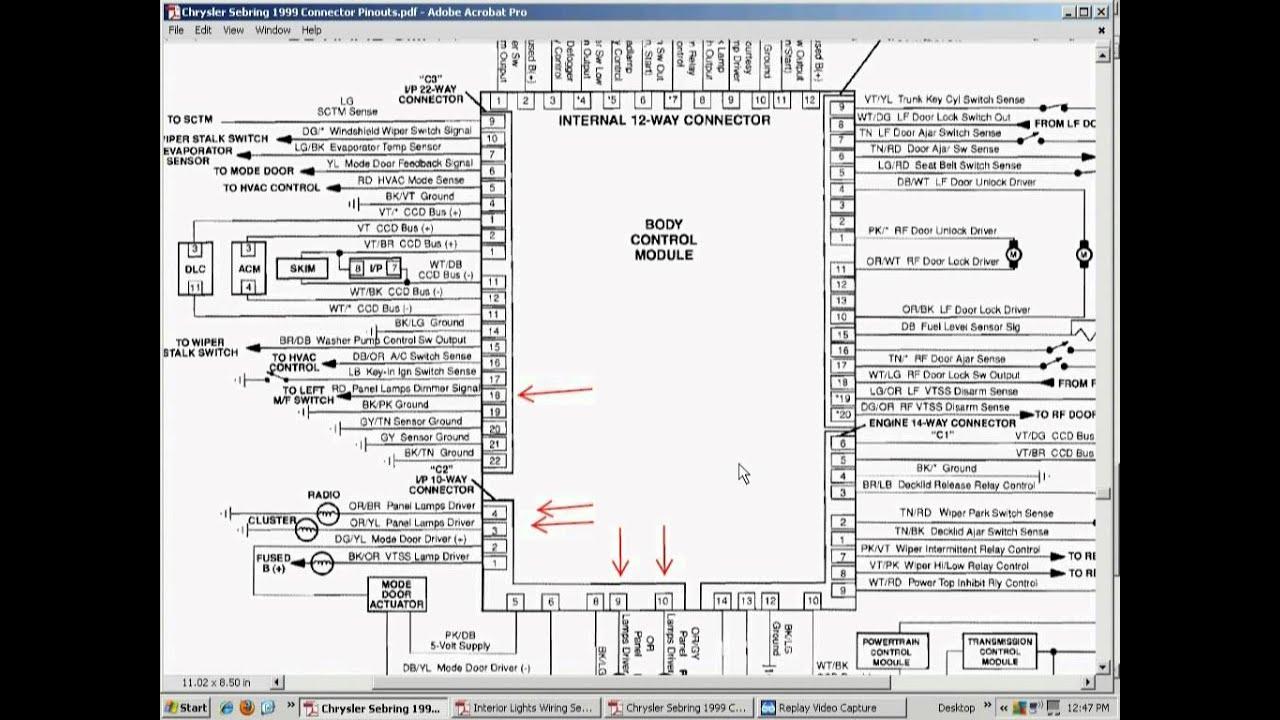 hight resolution of 99 chrysler 300m fuse diagram