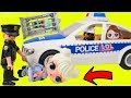 LOL Surprise Dolls + Lil Sisters Stopped by Playmobil Police with Confetti Pop - Toy Wave 2