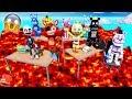 THE FLOOR IS LAVA IN FNAF KINDERGARTEN! (GTA 5 Mods For Kids FNAF RedHatter)