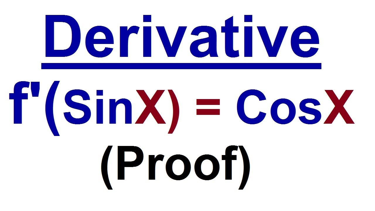 Derivative Sin X Proof