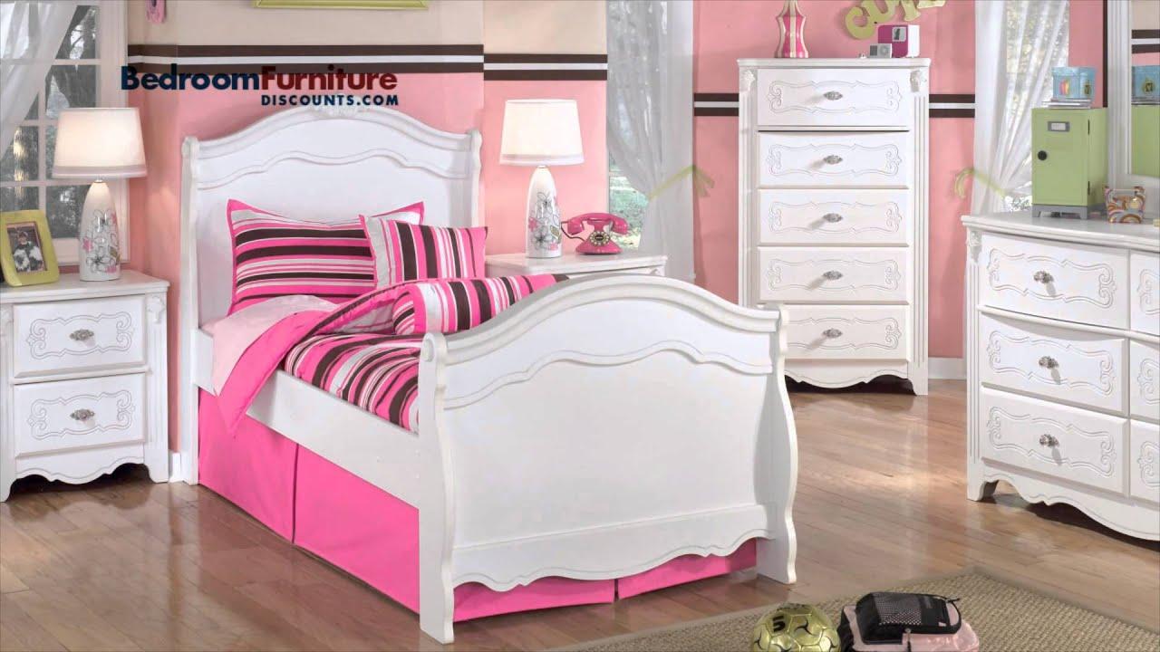 Ashley Exquisite Youth Bedroom Set  YouTube