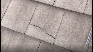 Replacing some concrete roof tiles