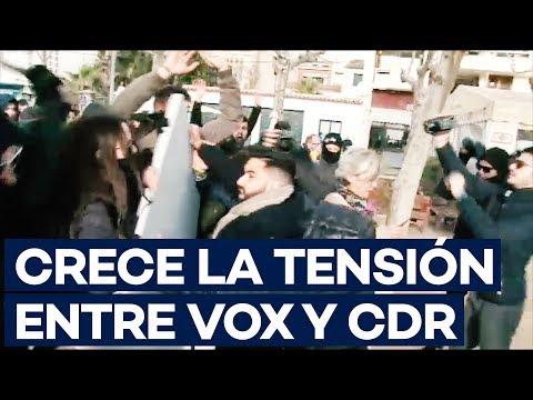 Tensión entre VOX y los CDR en Catalunya