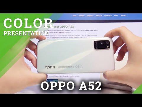 Color Presentation of OPPO A52 – Stream White