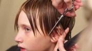 boys medium length side swept hair