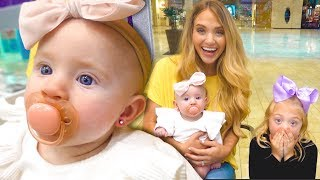 Baby Posie Gets Her Ears Pierced At 4 Months Old!!! *CUTEST EVER*