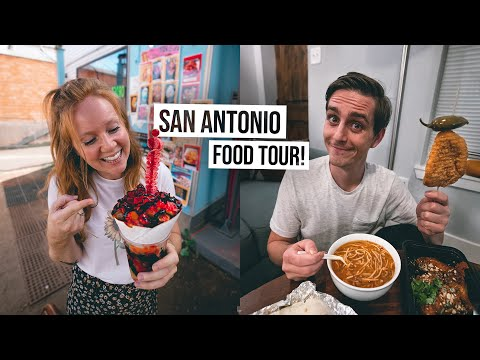 Social Distancing FOOD TOUR in San Antonio! Trying City's BEST Tacos, Raspa and Barbacoa 🍽