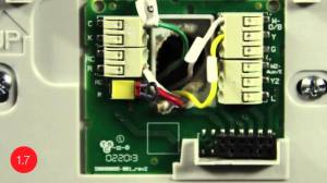 Substitute GWire for CWire  Install the Honeywell WiFi smart thermostat with this video