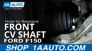 How To Install replace Front Drive Axle CV Joint Half Shaft 200410 Ford F150  YouTube