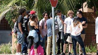 Cutting College Kids In Line Prank