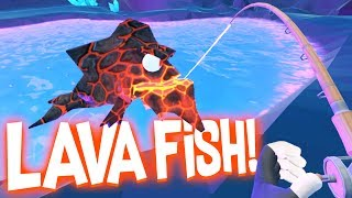 Catching Legendary Lava Fish in the Secret Underground Cave! - Crazy Fishing HTC Vive VR